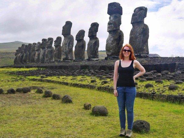 Alex on Easter Island Llama Travel
