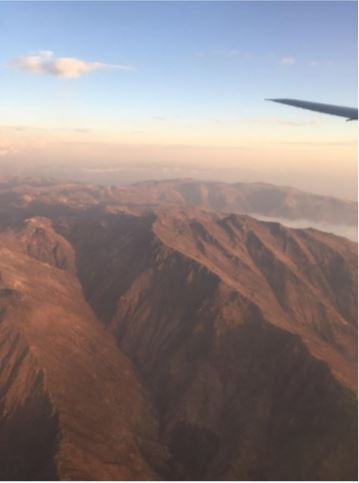 Andes from plane