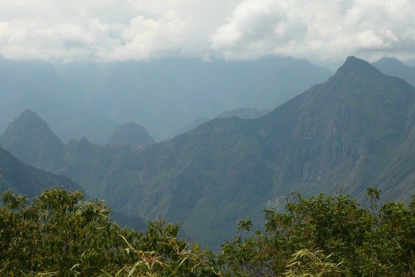 Day 4 View of MP from the trail Salkantay Trail Peru Llama Travel