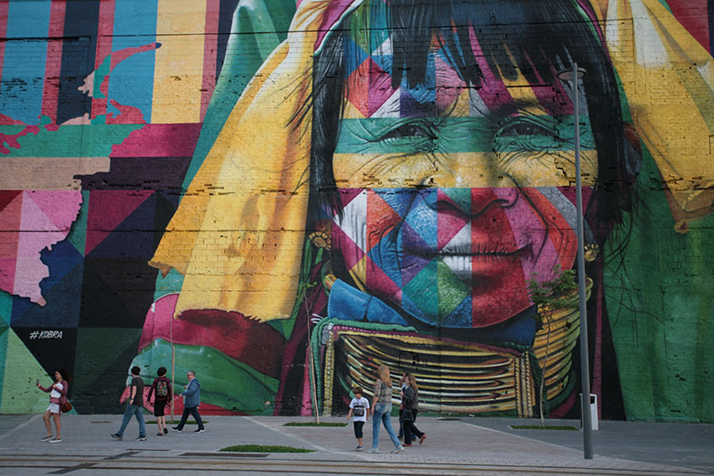 Giant street art Rio de Janeiro Brazil Llama Travel