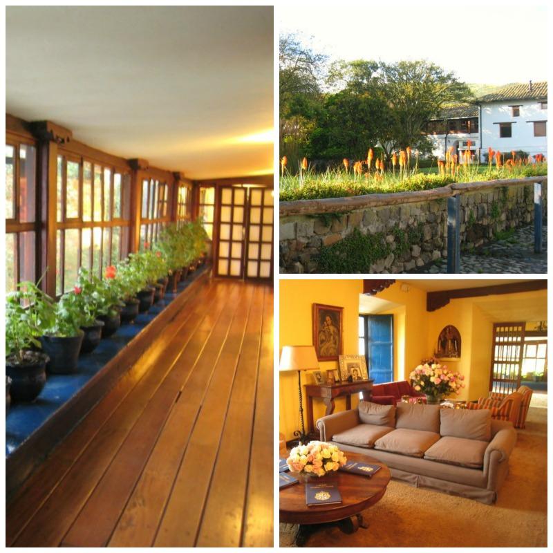 Hacienda Zuleta interior garden Llama Travel Collage