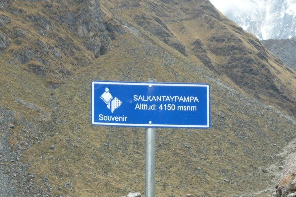 High altitude of Salkantay Trek Peru Llama Travel