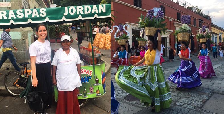 Jordan food stall Oaxaca Mexico