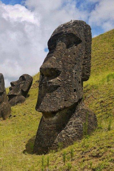 Lone Moai Easter Island Chile Llama Travel