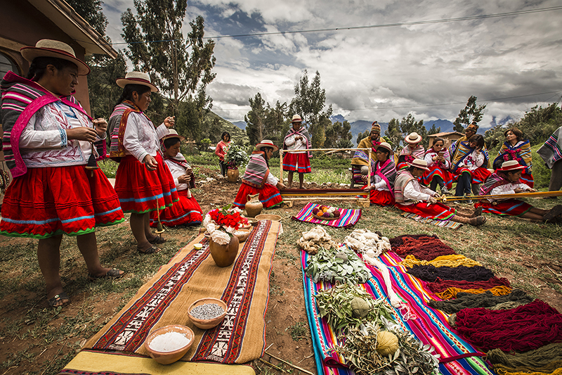Misminay community women Sacred Valley excursion Peru Llama Travel