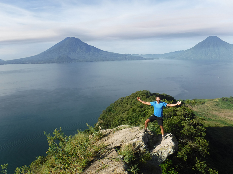 Ollie at Lake Atitlan Guatemala Llama Travel