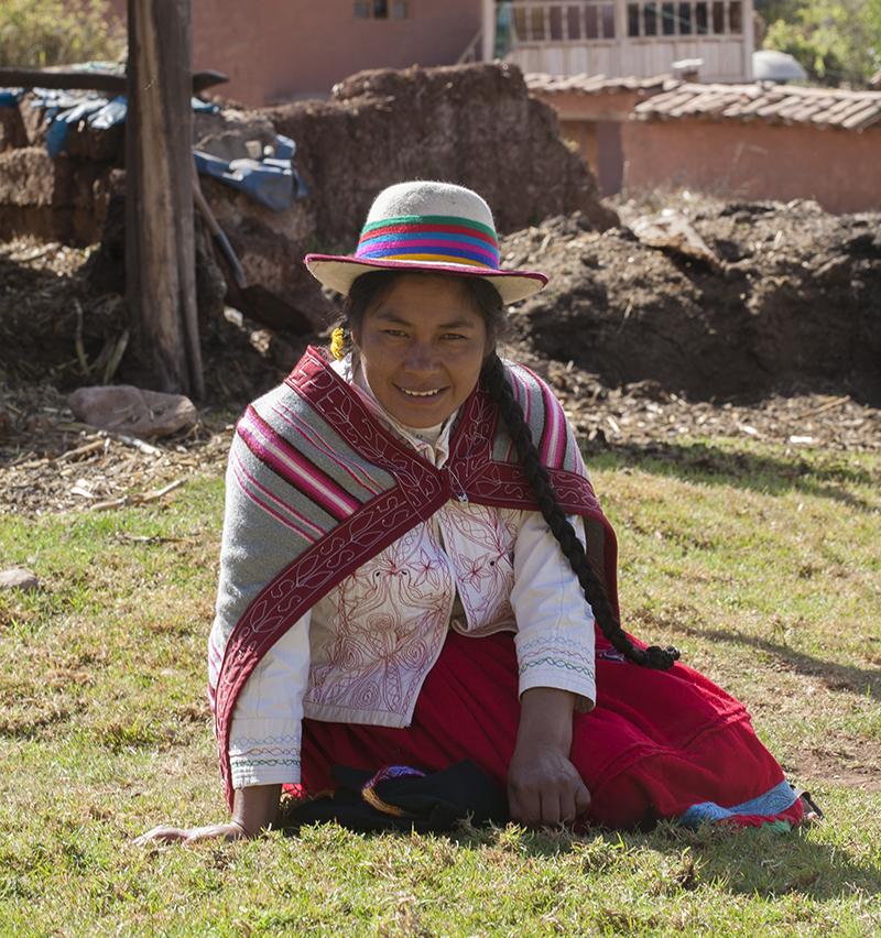 Peruvian lady Sacred Valley Peru