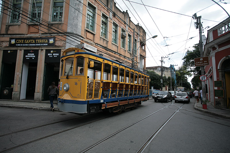 Santa Teresa tram Rio Brazil Llama Travel