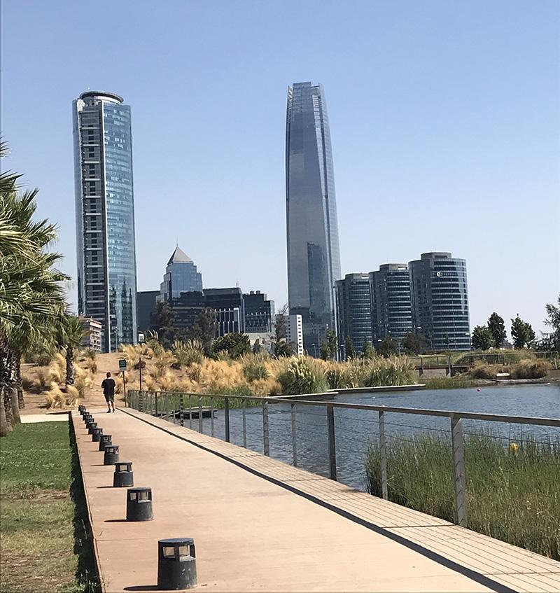 Sky Costanera Bicentenario Park Santiago Chile Llama Travel