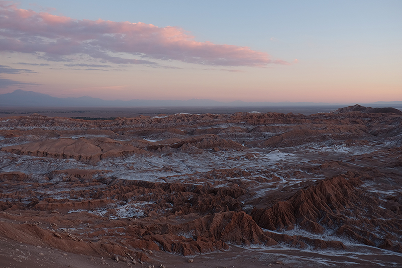 Sunset at Valle de la Luna Atacama Chile