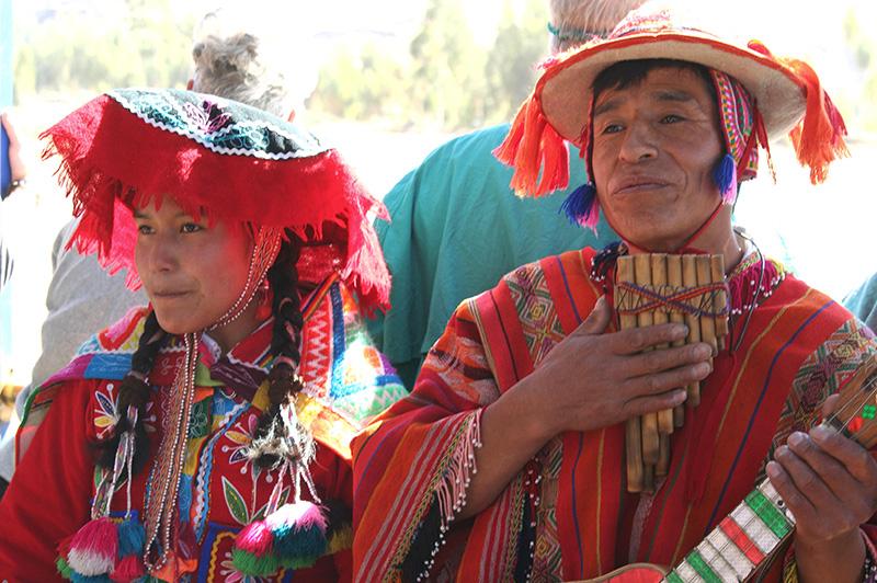 Traditional Music Players Cusco Peru Llama Travel