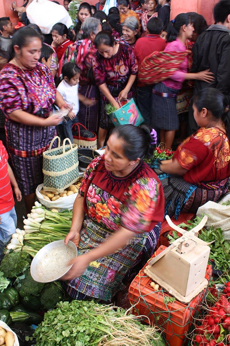 Traditional market Guatemala Llama Travel