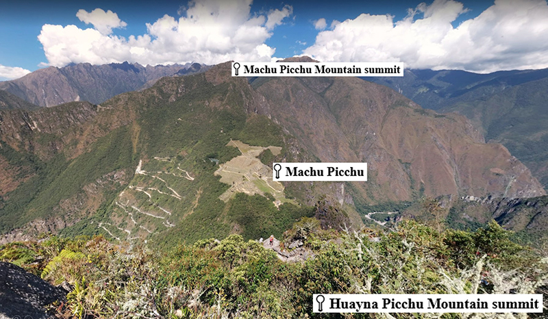 View from Huayna Picchu Google Maps