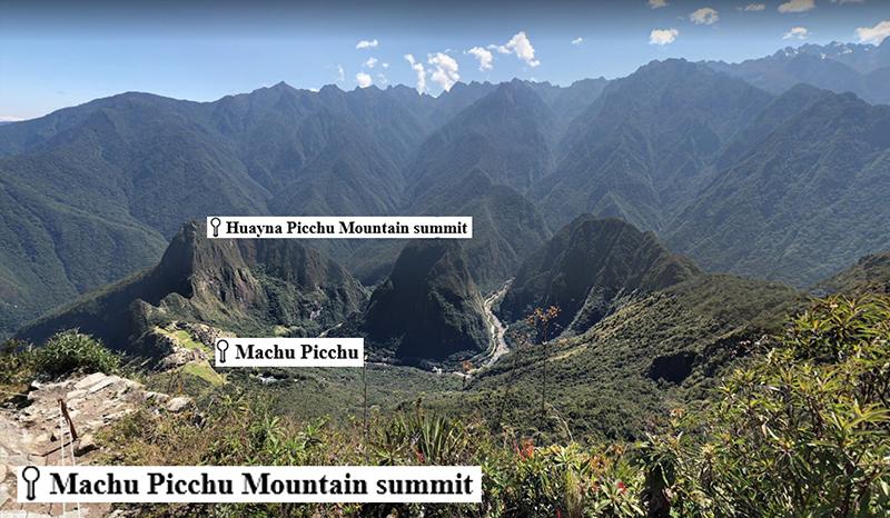 View from Machu Picchu Mountain Google Maps