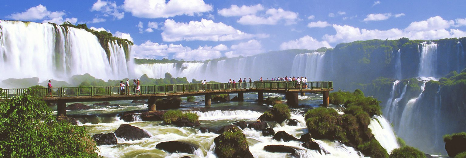 Feel the spray from the Iguazu Falls