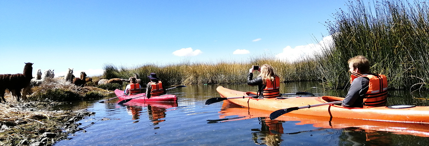 Paddle to the reed islands of Lake Titicaca