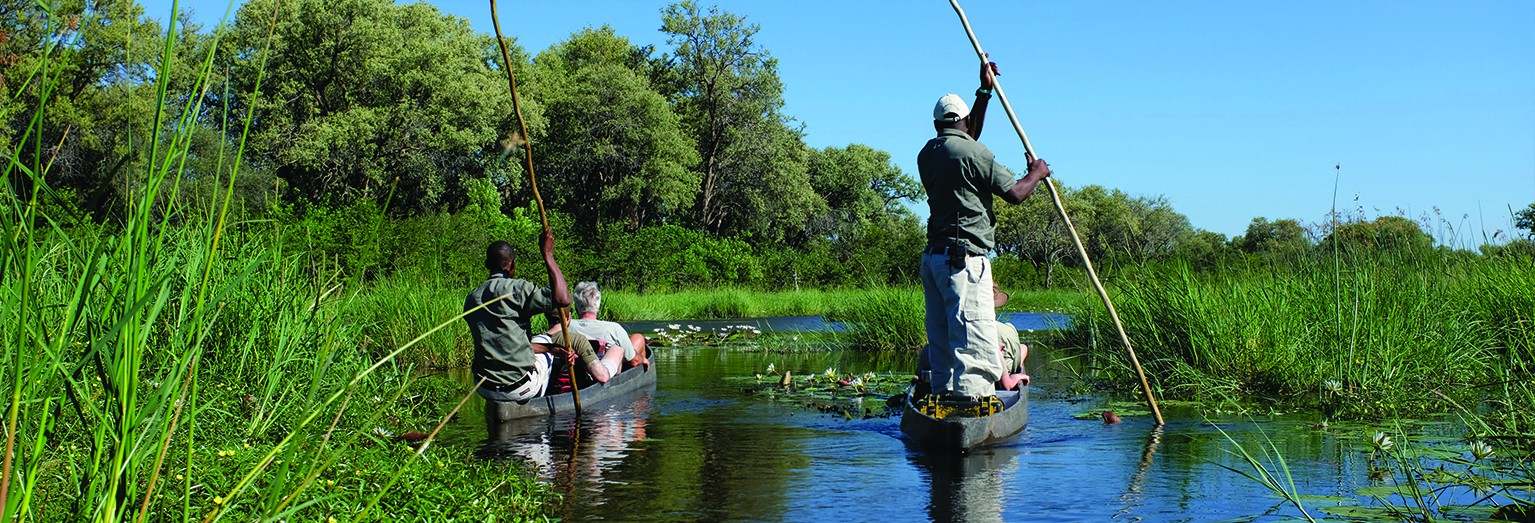 Enjoy a traditional mokoro ride in Botswana's Okavango Delta