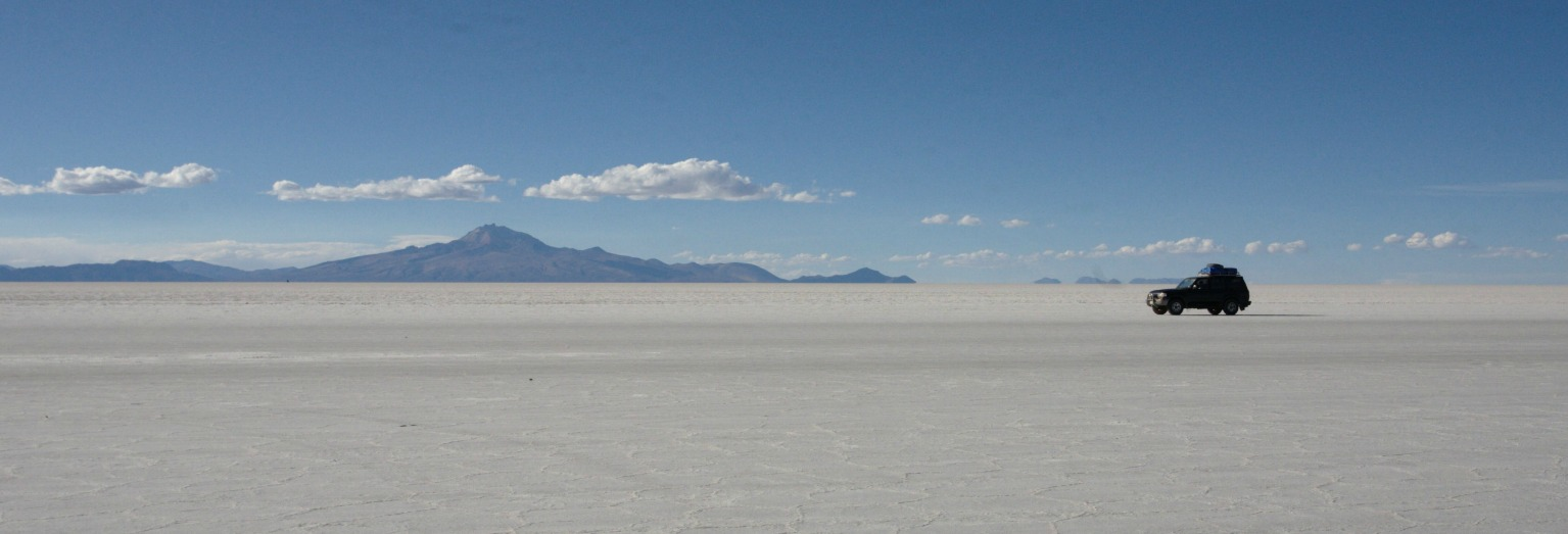 Photograph the unique landscape of the Uyuni Salt Flats