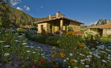 Garden, Sol Y Luna Lodge, Sacred Valley