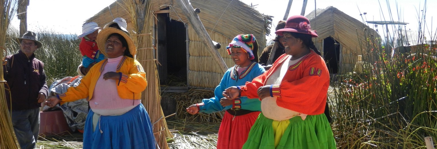 Women on Uros Islands, Lake Titicaca, Peru