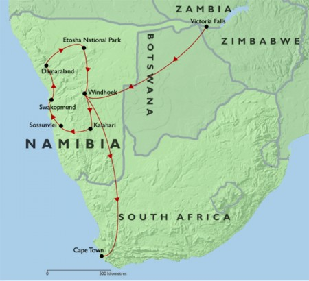 Wildlife and Wilderness of Namibia + Victoria Falls + Cape Town