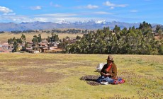 Sorting potatoes at Chinchero, Sacred Valley, Peru