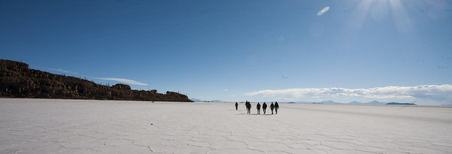 Uyuni Salt Flats in Bolivia