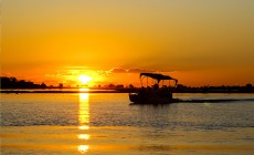 River sunset, Chobe National Park, Botswana