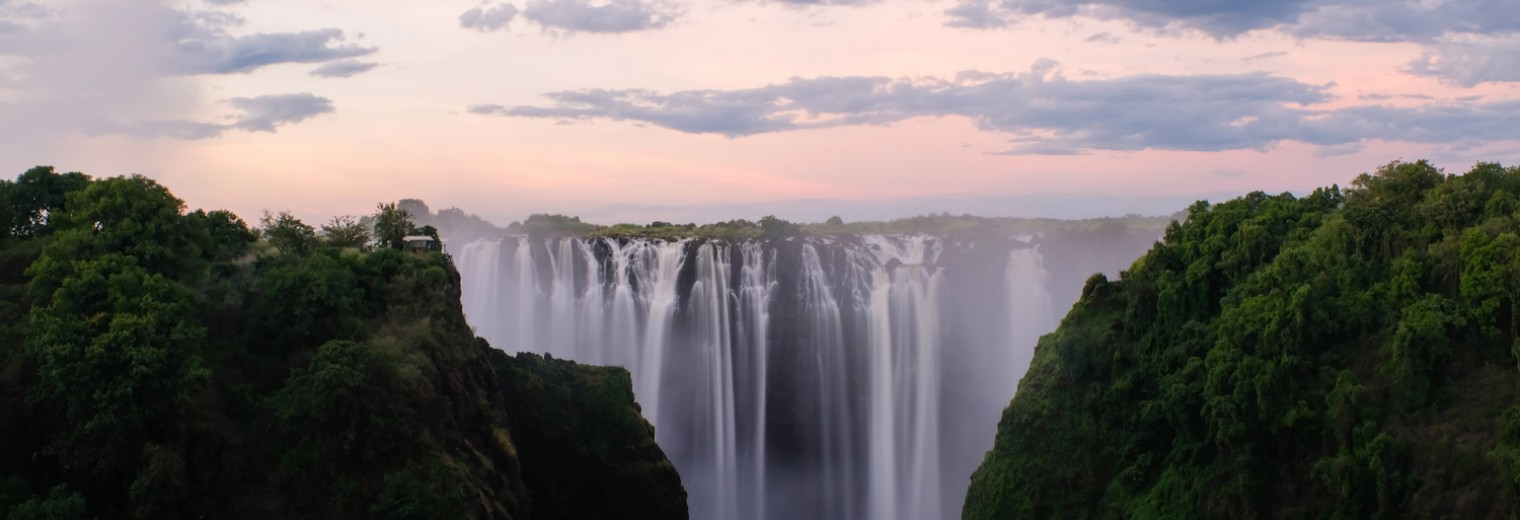 Sunset at Victoria Falls, Zimbabwe