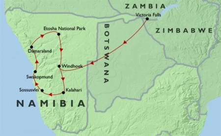 Wildlife and Wilderness of Namibia + Victoria Falls