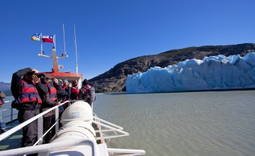 Boat to Grey Glacier, Chile