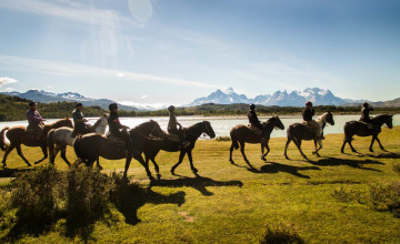 Horse riding, Torres del Paine, Chile