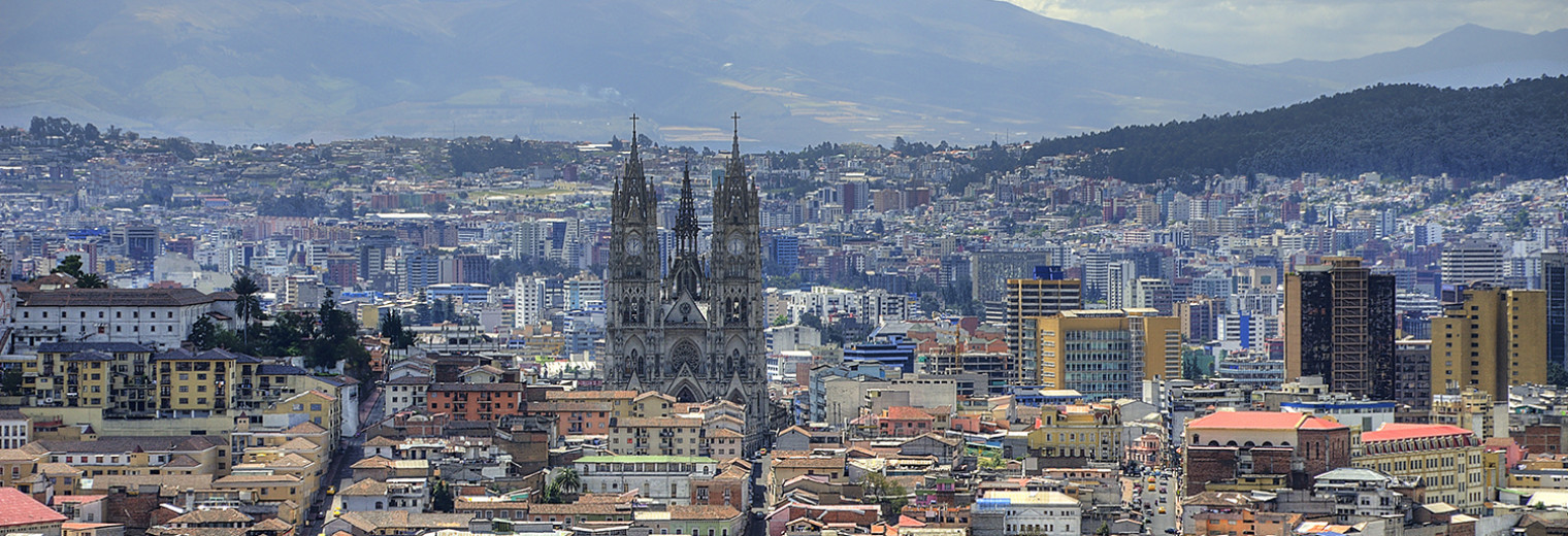 Panoramic view, Quito, Ecuador