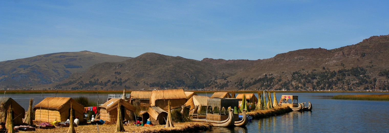 Floating Uros Islands, Lake Titicaca, Peru