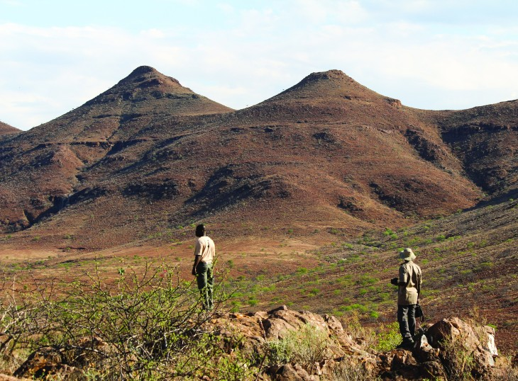 Rhino Tracking in Damaraland, Namibia